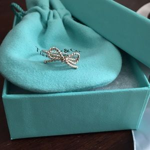 Tiffany sterling silver bow ring